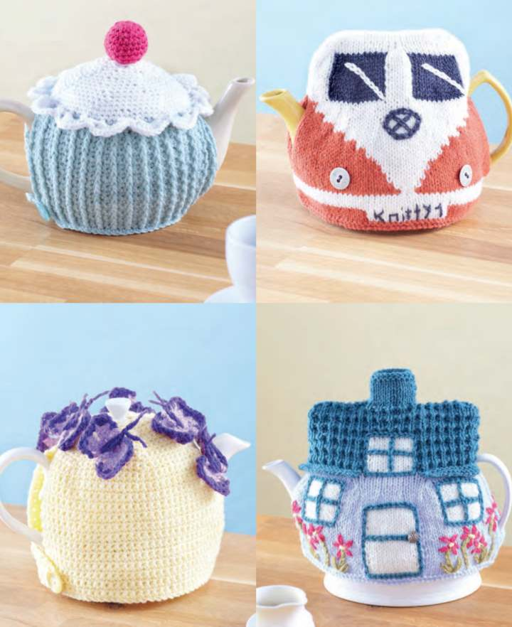 Knitting Pattern for Country Style Tea Cosies