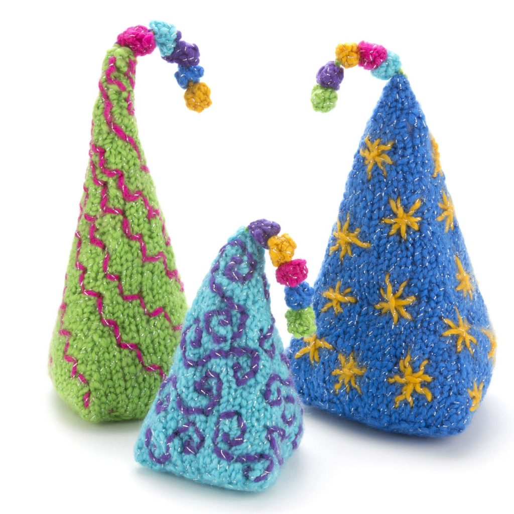 Trio of Christmas Trees Free Knitting Pattern