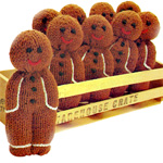 Knit your own gingerbread people with this free pattern