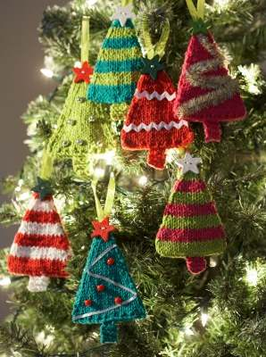 Tiny trees Christmas ornaments