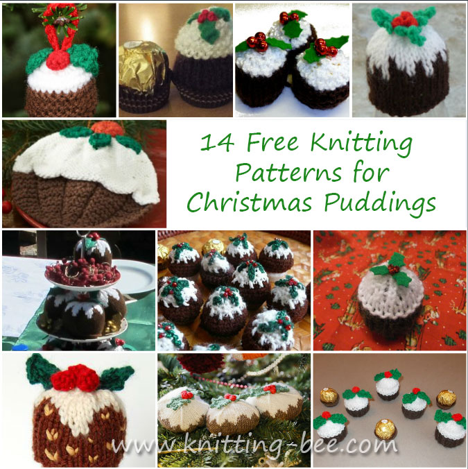 Free knitting patterns for Christmas Puddings. Get pattern