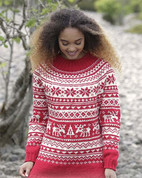 Nordic colorwork Xmas sweater