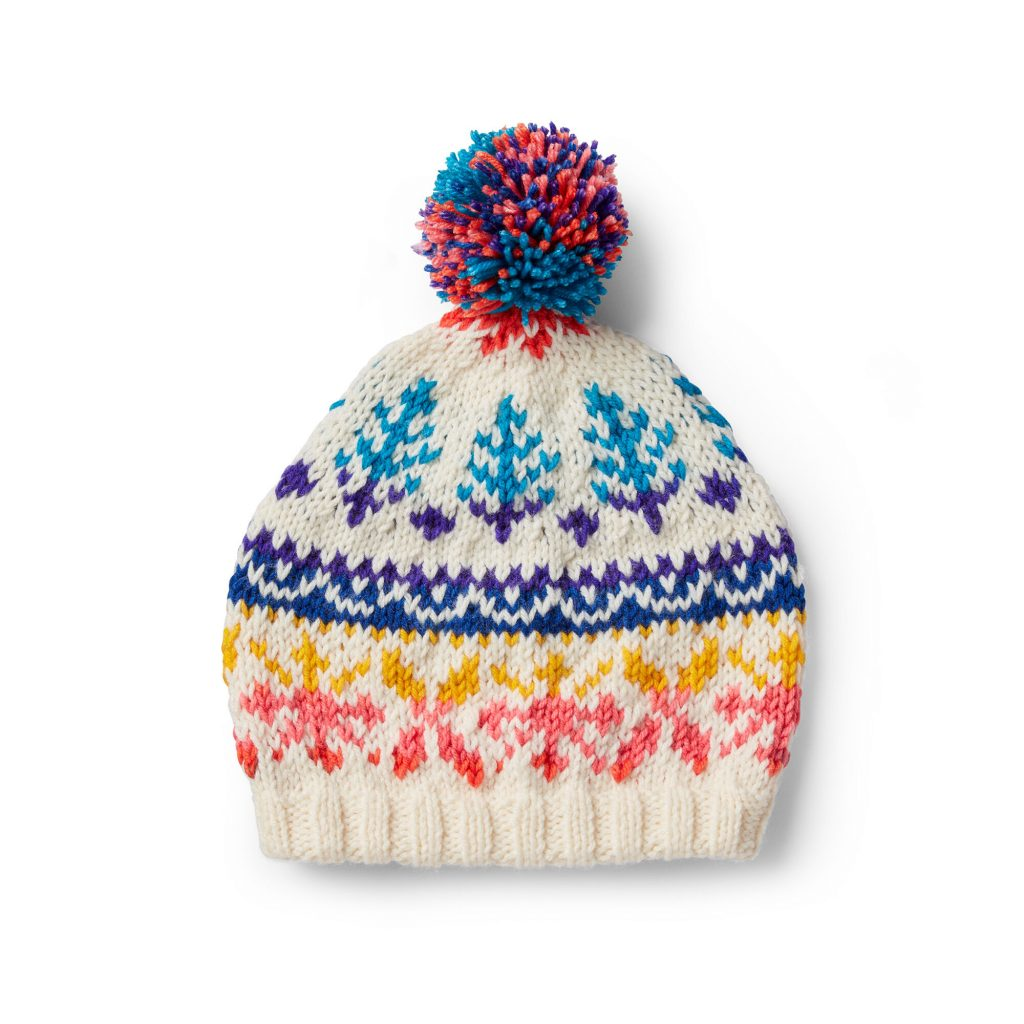 Fair Isle Christmas hat knit pattern