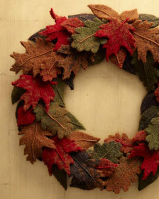 Fishermans wool fall wreath knit pattern