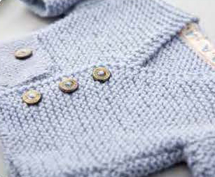 Free knitting pattern for an easy baby cardigan