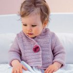 Free Knitting Pattern for a Ribbed Baby Jacket