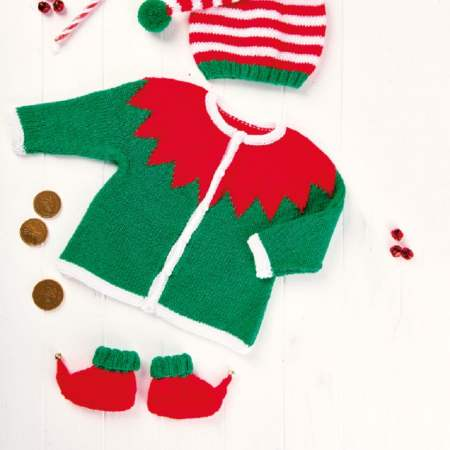 Free baby elf costume knitting pattern