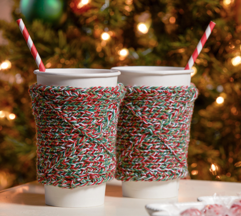 Free knit pattern for a cup cozy