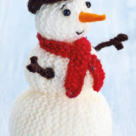Free knit pattern for a snowman