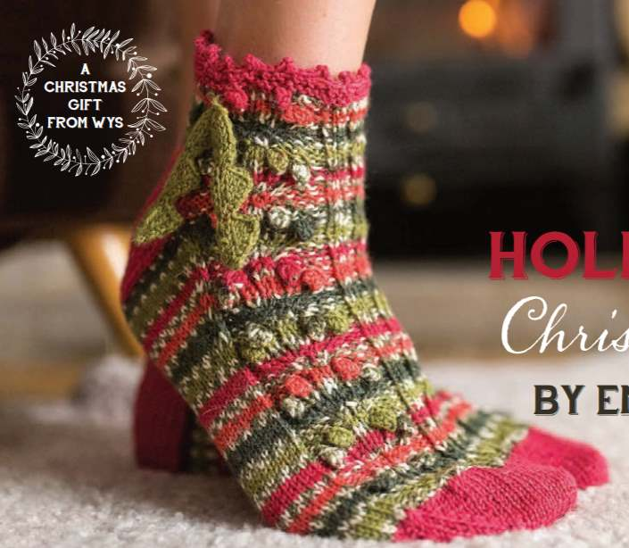 Free knitting pattern for Christmas socks