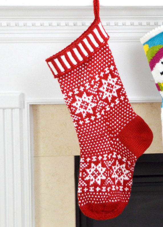 Free knitting pattern for a Scandinavian Christmas stocking