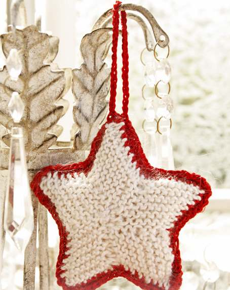 Free knitting pattern for a star ornament