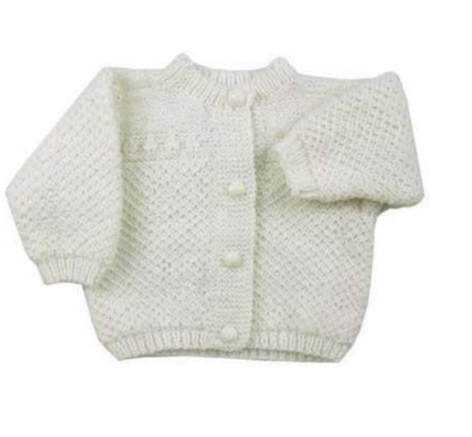 Free knitting pattern for an Old Fashioned Baby Jacket