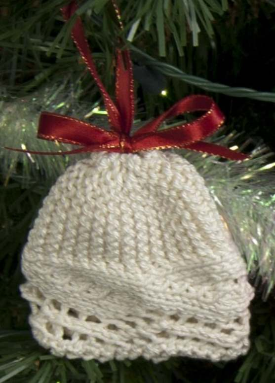 Free lace bell ornament knitting pattern