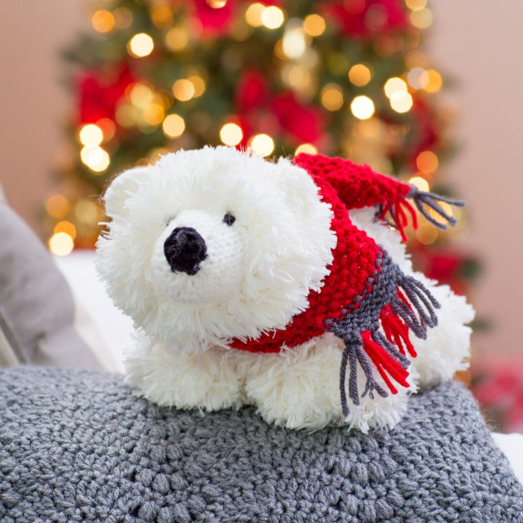 Free polar bear knitting pattern