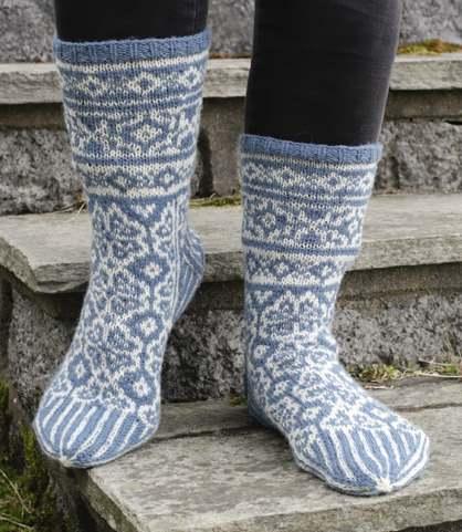 Christmas fair isle socks