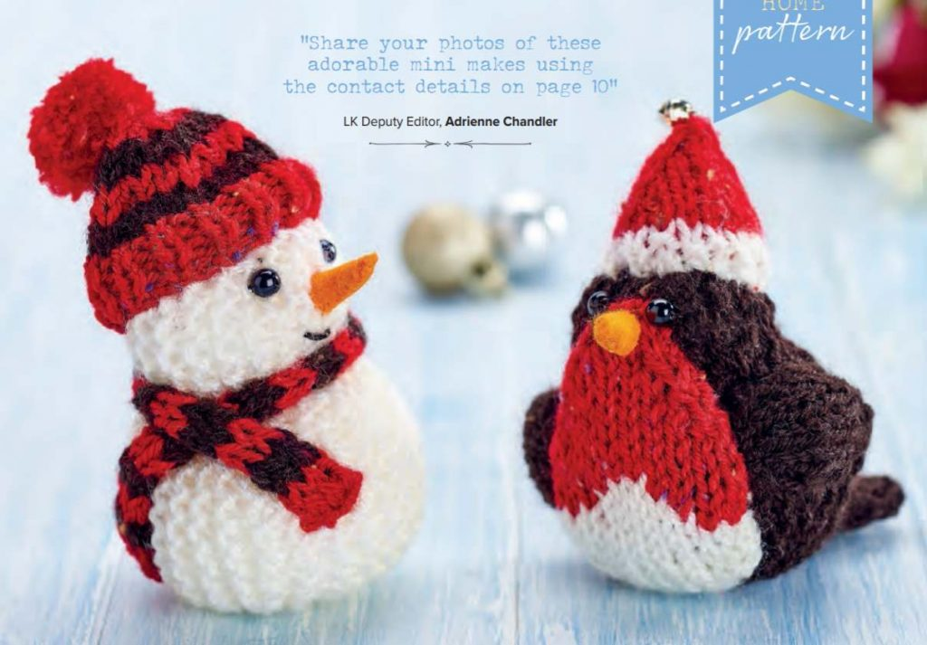 Quick Christmas decorations knit pattern