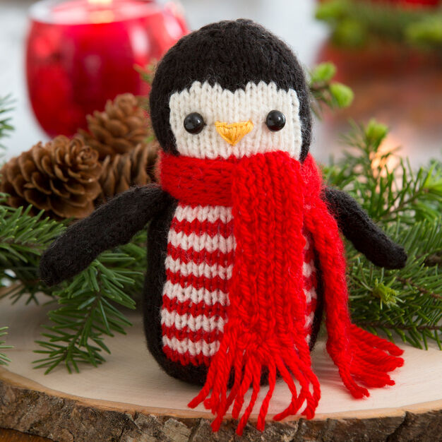Free holiday penguin knitting pattern