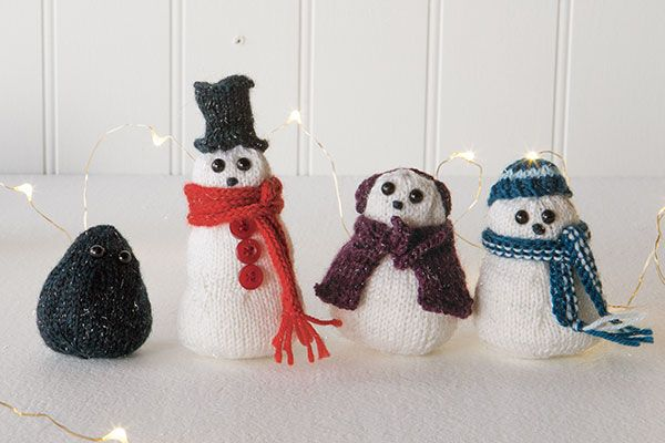 Snowpeople free knitting pattern