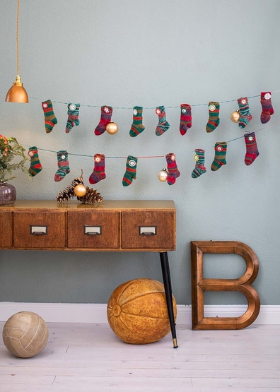 Socks advent calendar free knitting pattern