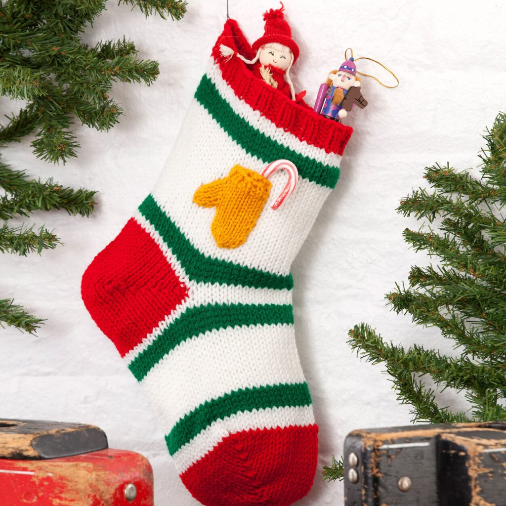 Xmas stocking free knitting pattern