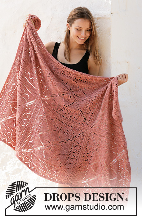 Free Knitting Pattern for a Lace Nordic Rose Afghan