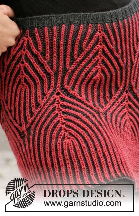 Free Knitting Pattern for an English Rib Skirt
