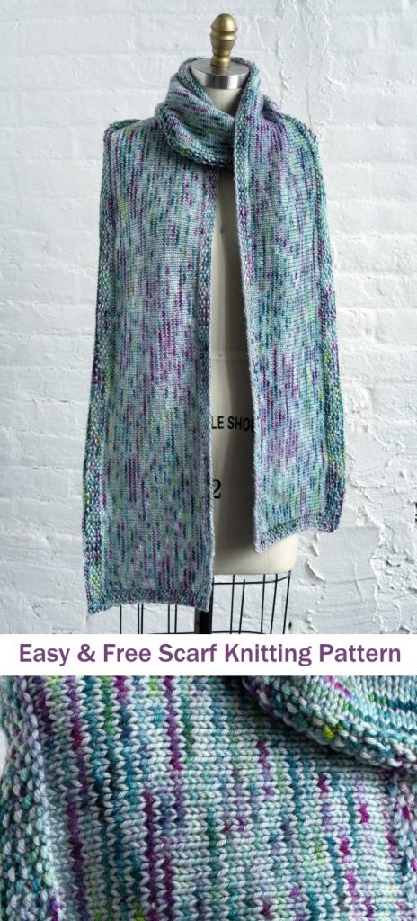 Easy and free scarf knitting pattern