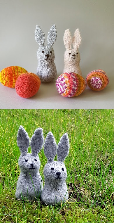 Free Knitting Pattern for Easter Bunny Rabbits
