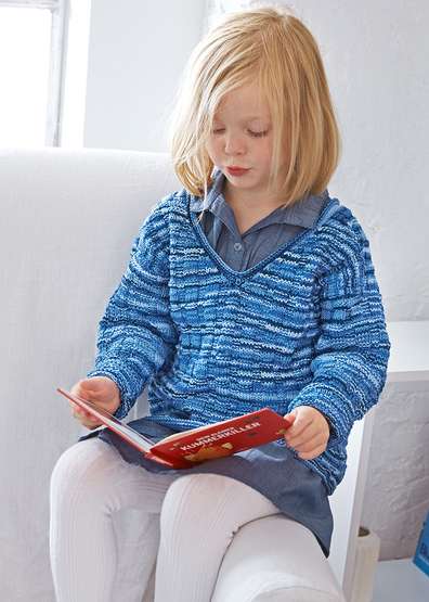 free knitting pattern for a child's sweater, great pattern for beginners