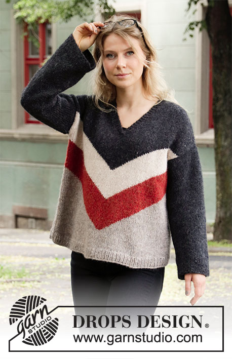 Free Knitting Pattern for a Grand Canyon Nights Sweater for Women