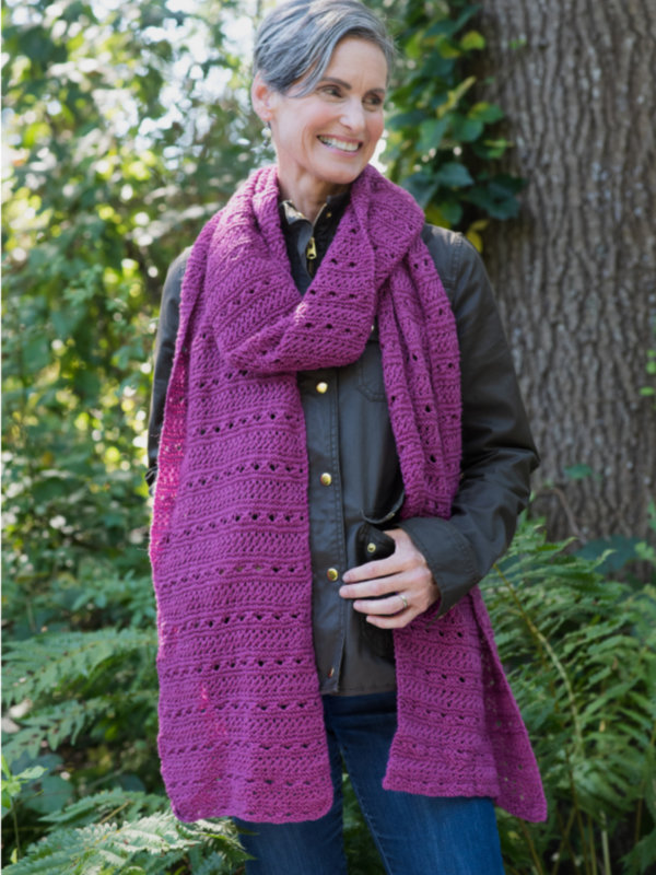 Free Knitting Pattern for an easy scarf