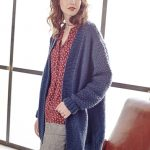 Free Knitting Pattern for an Easy Long Winter Cardigan