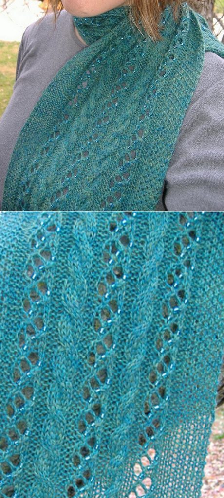 Free Scarf Knitting Patterns with Beads