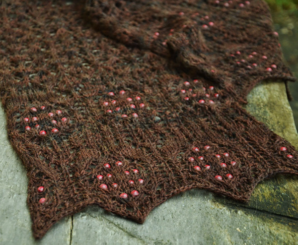 Free Scarf Knitting Patterns with Beads and Lace