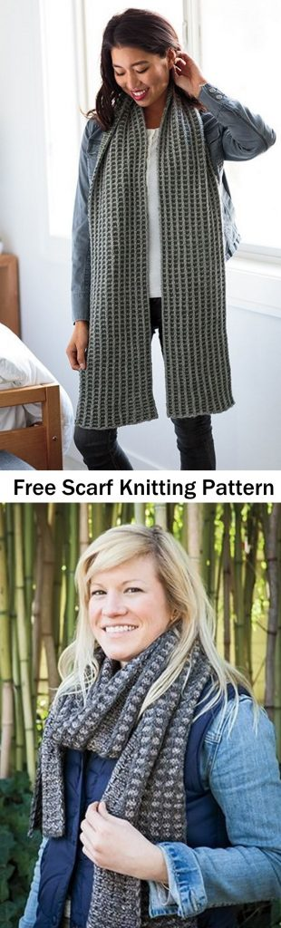 Free colorwork scarf knitting pattern