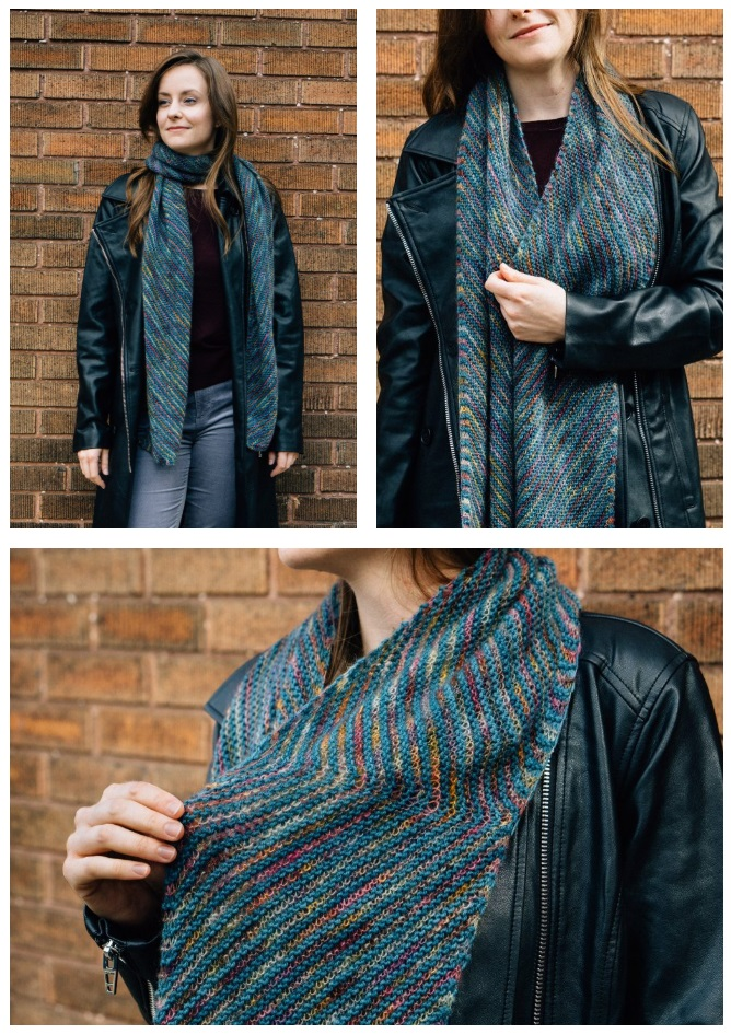Free knitting pattern for a scarf