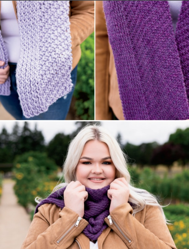 Free knitting pattern for a unique scarf