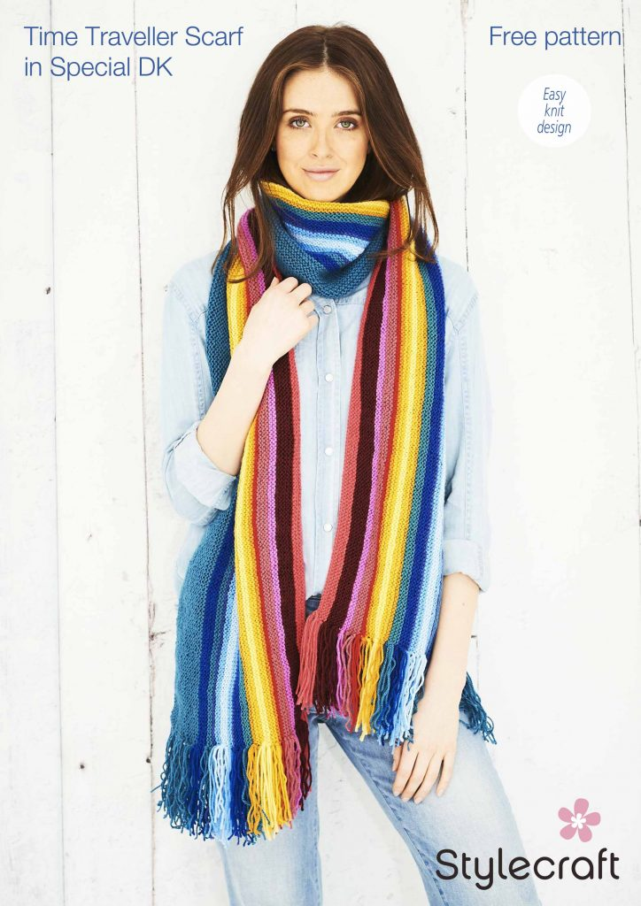 Knitted Time Travellers Scarf free pattern