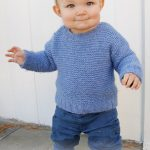 Easy garter stitch sweater pattern for kids and babies