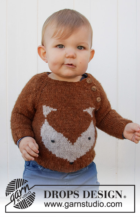 Free Kids Sweater Knitting Pattern for a Little Fox
