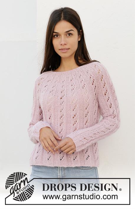 Free lace and rib sweater knit pattern