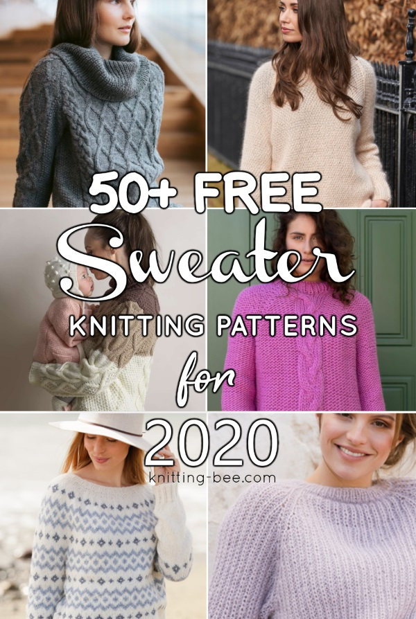 50+ Free Sweater Knitting Patterns for Women