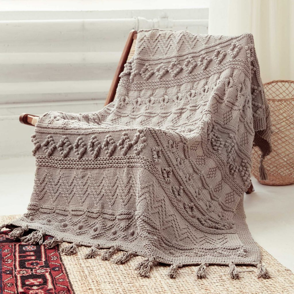 Free Knitting Pattern for a Bernat Sampler Blanket