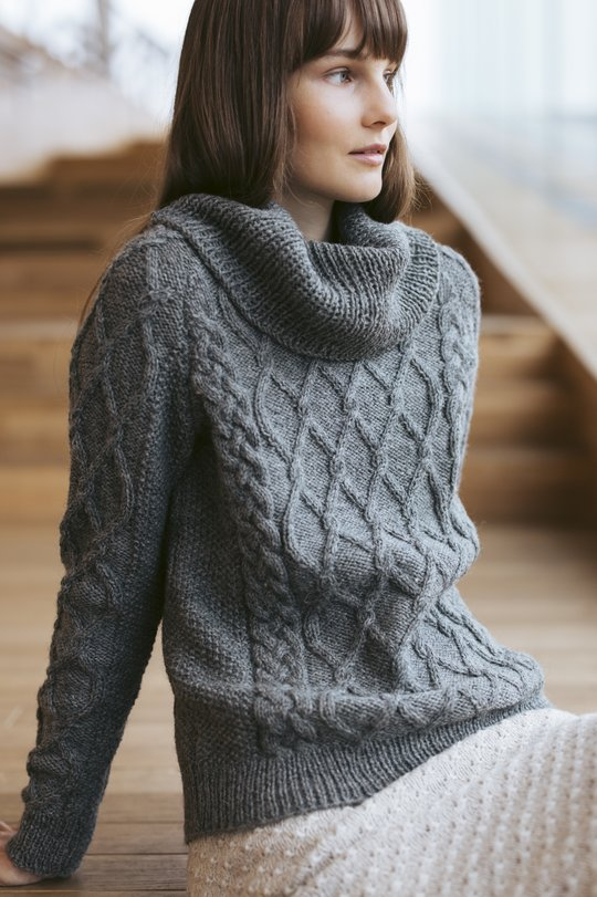 free aran sweater knitting pattern