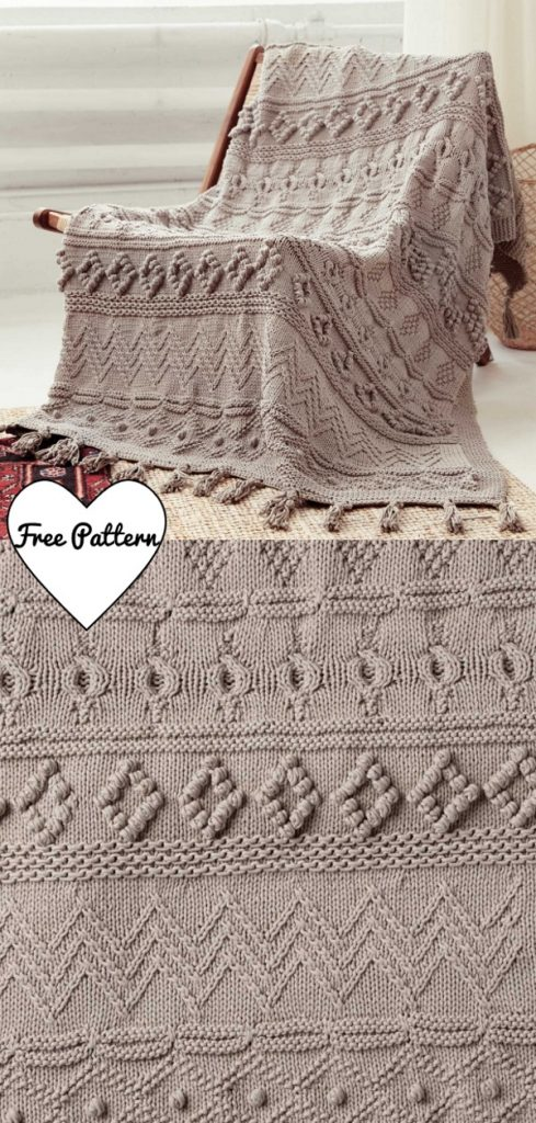 Free Knitting Pattern for a Sampler Blanket 2020