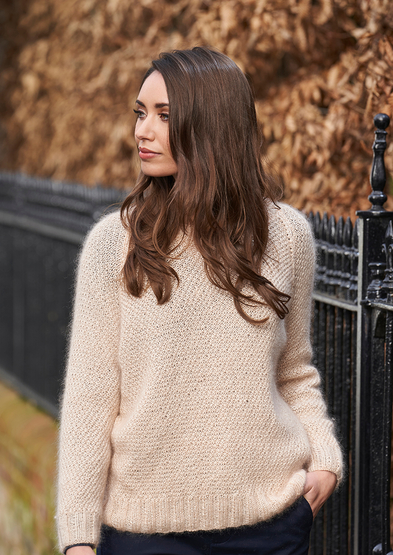 Free and easy mohair sweater knitting pattern