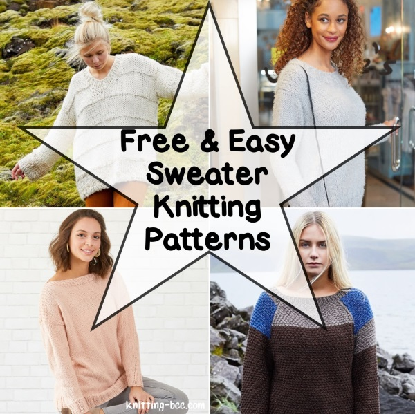 Free and easy sweater knitting patterns