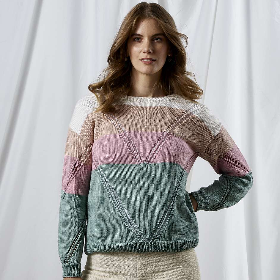 Free knitting pattern for a modern sweater
