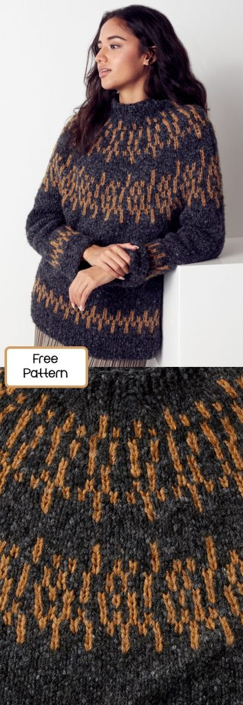 Free knitting pattern for a nordic pullover